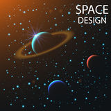 Abstract space elements stock illustration