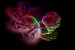 Abstract space fractal with colorful plasma. On dark background stock illustration