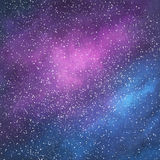 Abstract space galaxy background. With stars and nebula, illustration painting Royalty Free Stock Photography