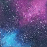 Abstract space galaxy background. With stars and nebula, illustration painting Royalty Free Stock Image