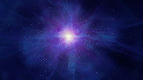 Abstract space motion zoom in LOOP stock footage