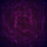 Abstract space with purple and violet stars Stock Photo