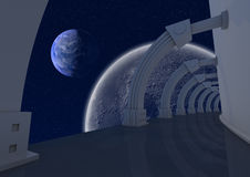 Abstract Space Structure Stock Image