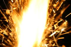 Abstract spark. Danger flame background Stock Photo