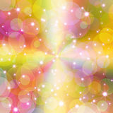 Abstract sparkle colorful background. Glitter stars ,circles on colorful background Stock Photography