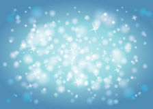 Abstract sparkle lights and stars background Stock Image