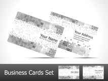 Abstract sparkle matelic business card Royalty Free Stock Photos