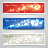 Abstract Sparkling Banner Collection Royalty Free Stock Photo