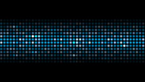 Abstract sparkling blue shiny circles video stock footage