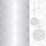 Abstract sparkling Christmas seamless pattern Stock Photography