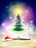 Abstract sparkling christmas tree Stock Photography