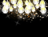Abstract Sparkling Drops and Stars Holiday Background bokeh effect. Vector Illustration Stock Photography