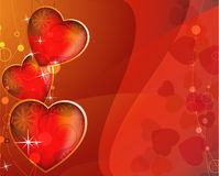 Abstract sparkling hearts Royalty Free Stock Photos