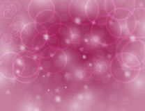 Abstract Sparkling Pink Holiday Background bokeh effect. Royalty Free Stock Image