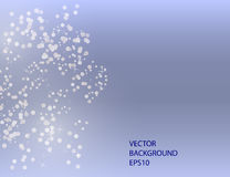 Abstract Sparkling Stars on Blue Holiday Background Royalty Free Stock Photo