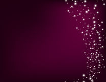 Abstract Sparkling Stars Holiday Background bokeh effect. Vector Illustration Stock Photos