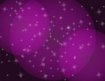 Abstract Sparkling Stars Lilac Holiday Background bokeh effect. Stock Photos