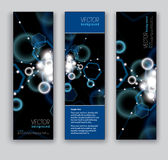 Abstract Sparkly Banners. Vector Eps10 Backgrounds. Stock Image