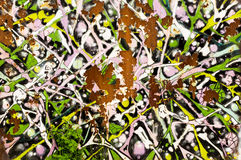 Abstract Spay Paint and Rust Royalty Free Stock Photos
