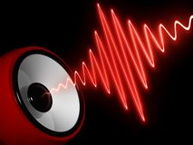 Abstract speaker. Abstract 3d illustration of modern speaker and sound wave royalty free illustration