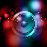 Abstract speaker background Stock Images