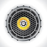 Abstract speaker and volume knob design Royalty Free Stock Image