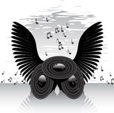 Abstract speakers and wings Stock Photo