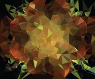 Abstract spectacular low poly floral mosaic background. royalty free illustration