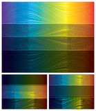 Abstract spectrum backgrounds set Royalty Free Stock Images