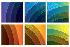 Abstract spectrum backgrounds set Stock Photos