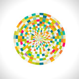 Abstract spectrum circle with creative geometric pattern Stock Images