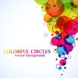 Abstract spectrum circles. Background with copy space Royalty Free Stock Photography
