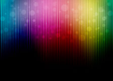 Abstract spectrum color background. With black blank stock illustration