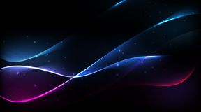 Abstract spectrum curved lines background Stock Image