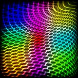 Abstract spectrum dark background with colored sparkles. Royalty Free Stock Photos