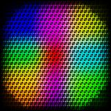 Abstract spectrum dark background with colored sparkles. Royalty Free Stock Image