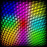 Abstract spectrum dark background with colored sparkles. Stock Image