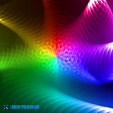 Abstract spectrum fractal background. Futuristic abstract rainbow spectrum 3d fractal fantasy background Stock Photo