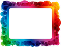 Abstract Spectrum Frame. Frame created with abstract circle design in spectrum colors with copyspace vector illustration
