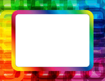 Abstract Spectrum Frame. Frame created with abstract oblong ring design in spectrum colors with copyspace Royalty Free Stock Photo