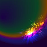 Abstract spectrum star Stock Photography