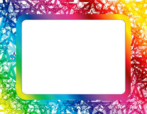 Abstract Spectrum Star Frame. Frame created with abstract star design in spectrum colors with copyspace royalty free illustration