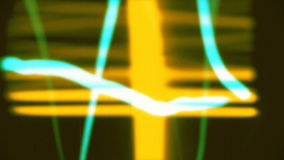 Abstract spectrum video. An abstract scientific radio signal made from a spectrum analyzer stock footage