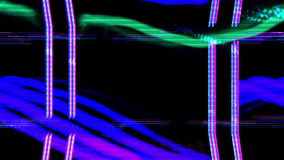 Abstract spectrum video. An abstract scientific radio signal made from a spectrum analyzer stock video footage