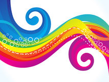 Abstract spectrum wave background Royalty Free Stock Images