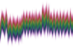 Abstract spectrum wave Stock Photo