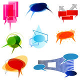 Abstract speech balloons Stock Images
