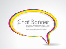 Abstract speech banner Stock Image