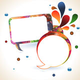 Abstract speech bubble background Stock Photo