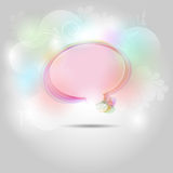 Abstract speech bubble background Royalty Free Stock Image